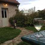 Drinks in the garden in the evening...