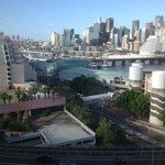 view of Darling Harbour from the 11th floor.