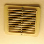 Dirty vent in the bathroom