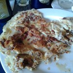 Apple bacon pancake