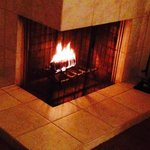 Fireplace with a duraflame log was a nice touch.
