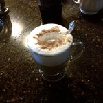 this is a pic of just one of the special latte she made me.Highly recommended !