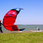 Good wind for kites & boarders