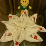 Room - Towel flower and stuffed animal from housekeepers