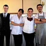 At your service:  Batuhan, Ezgi, Emma & Ilhan (chef)