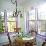 Dining area at the Purple Gables