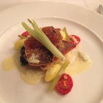 Sea bass and saffron potato main