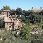 View of property from Village proper, Montalcino