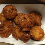 Delicious hush puppies... they may not be EXACTLY like NC, but they are good!!!
