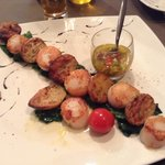 Brochette de Saint Jacques excellente