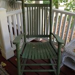 Rocking chair on porch outside