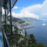 Amalfi town from the dinning room.