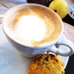 Cappuccino and Homemade Scone!