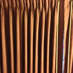 Bedroom curtains. Stained, but functional.