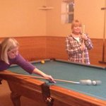 Fun playing pool