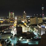 San Antonio skyline from rooftop pool