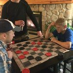 Checkers in the lobby