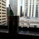 Our view on the 12th floor with a surprise from our concierge