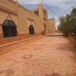 Outside of great riad in Merzouga.