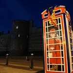 Phone booth near Windsor Castle