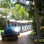 Train that take you to different parts of the resort