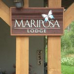 Mariposa Lodge sign
