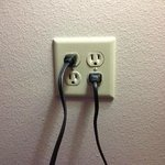 plenty of wall outlets
