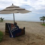 U of A Pride on the beach belonging to the Blater