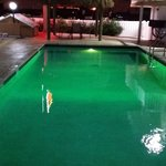 Pool with rotating lights (Green)
