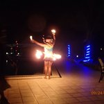 Fire dancers entertain