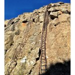 Hike to the Amphitheatre, Northern Drakensberg, steel ladders