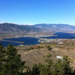 Incredible view of beautiful Osoyoos (and hotel)