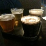 Flight of craft beer