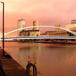 Walk along Salford Quays to Old Trafford