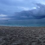 Cloudy, but warm. Ha'atafu Beach