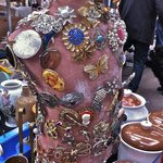 Costume jewelry galore at the Old Spitalfields antiques market on Thursday