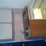 Kitchenette and fridge