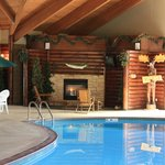 Fireplace at Pool