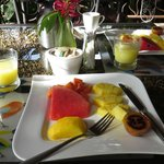 fresh fruit at breakfast