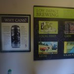 Signs in the brewery
