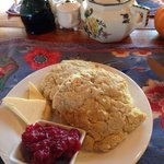 Gluten free biscuits and home made jam