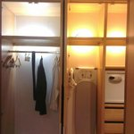 Illuminated wardrobe, iron, ironing board, locker