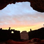 Amazing Sunrise from you bed in a cave!