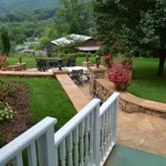 Andon Reid Bed & Breakfast Inn - Looking Toward Barbecue & Fire Pit