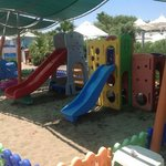 Kids play area on the beach