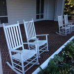 A Southern favorite - rocking chairs on the front porch allow you to relax