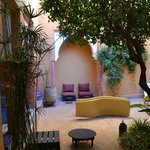 A glimpse of the smaller Riad's courtyard