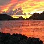 Sunset over Sophers Hole - West End Tortola