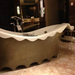Care for a bath? - standalone tub at  center stage; however I prefer the huge rainshower room