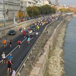 view from Chain Bridge towards hotel during marathon